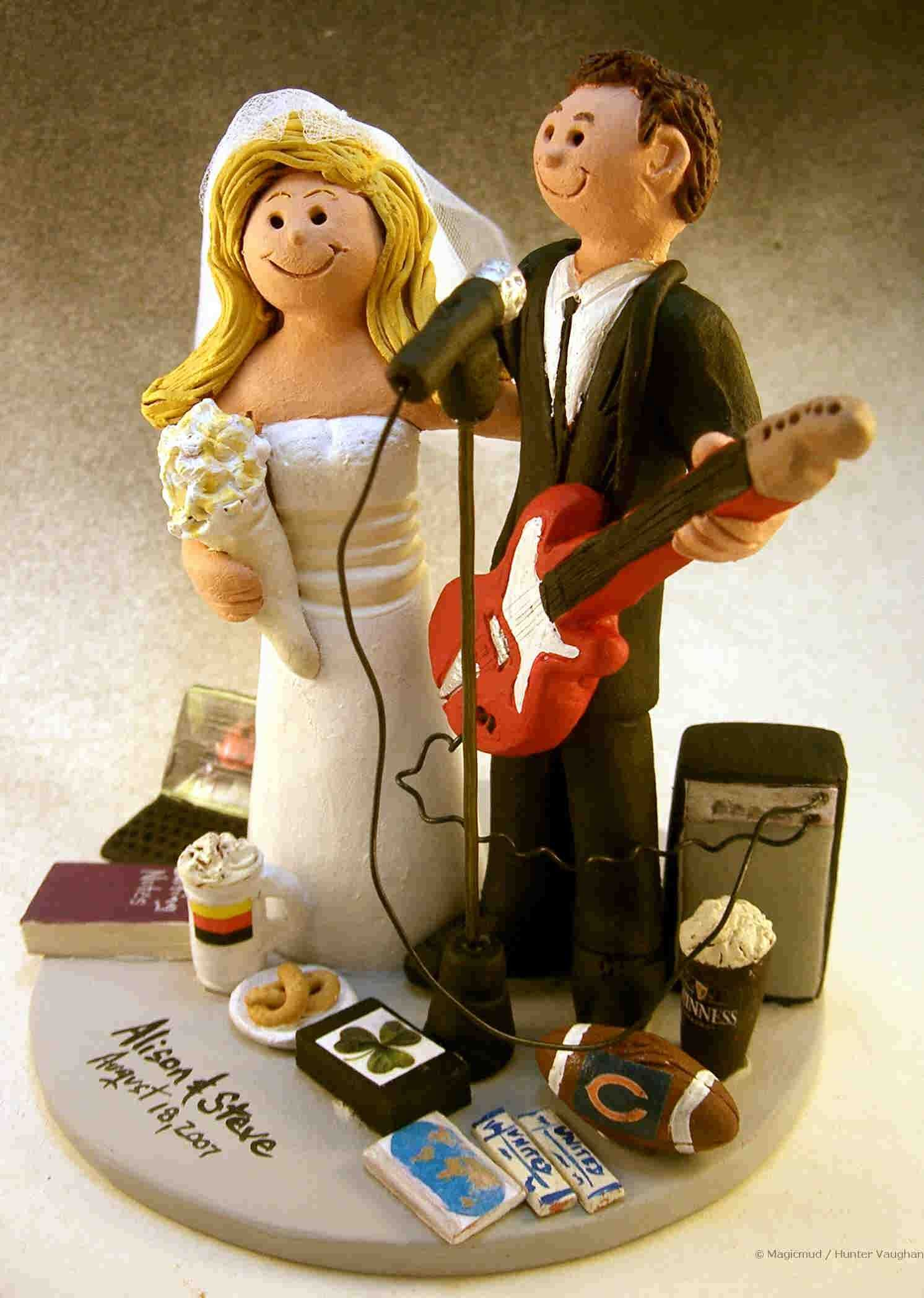 wedding cakes for musicians Guitar Gods Wedding Cake Topper