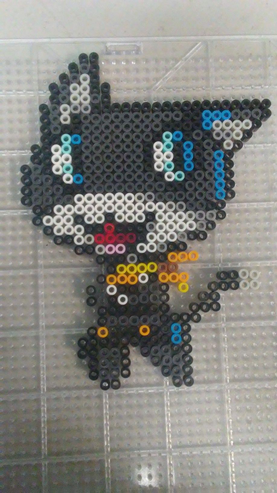 Morgana from Persona 5 | bead art | Perler bead art, Pixel
