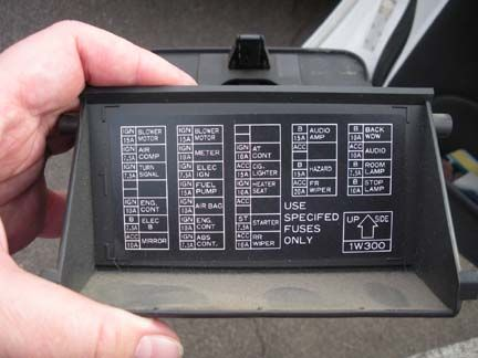1996 nissan pathfinder fuse box diagram