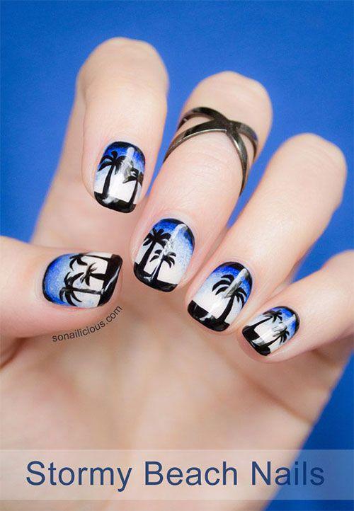 18 Beach Nail Art Designs, Ideas, Trends & Stickers 2015   Summer Nails - 18 Beach Nail Art Designs, Ideas, Trends & Stickers 2015 Summer