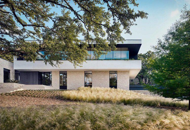 Charmant Maison Moderne Façade Blanche