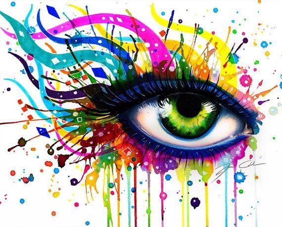 œil Abstrait Signe Art Print Art Colorful Art Art Prints