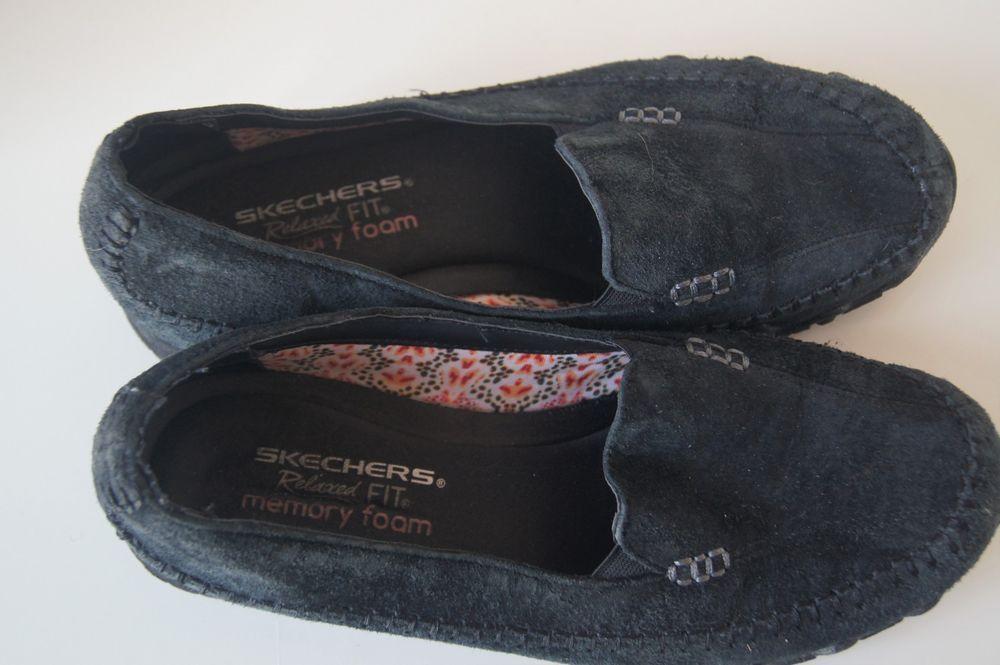 skechers memory foam loafers