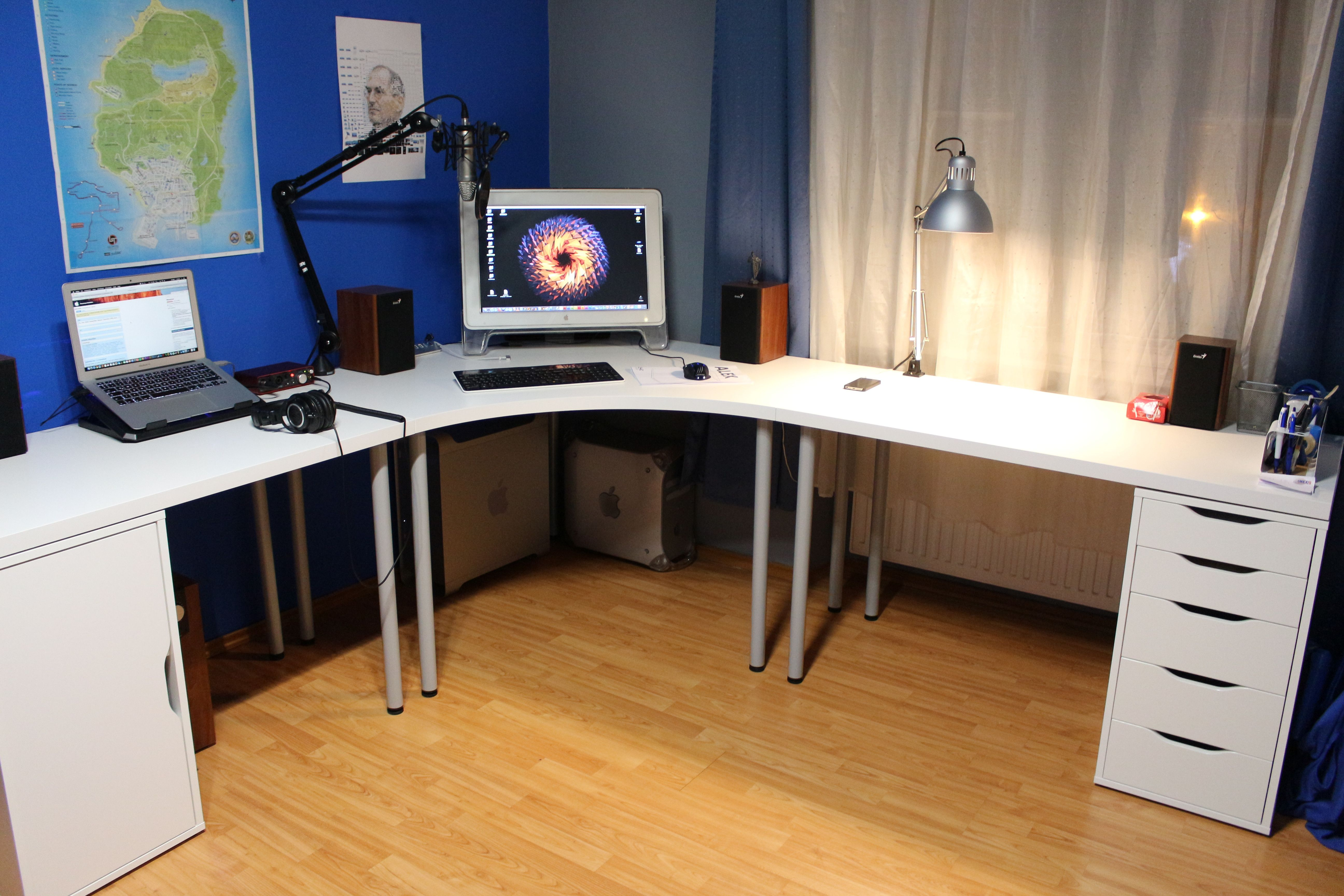 My New Ikea Powermac Setup Small Home Offices Home Office Design Home Office Furniture