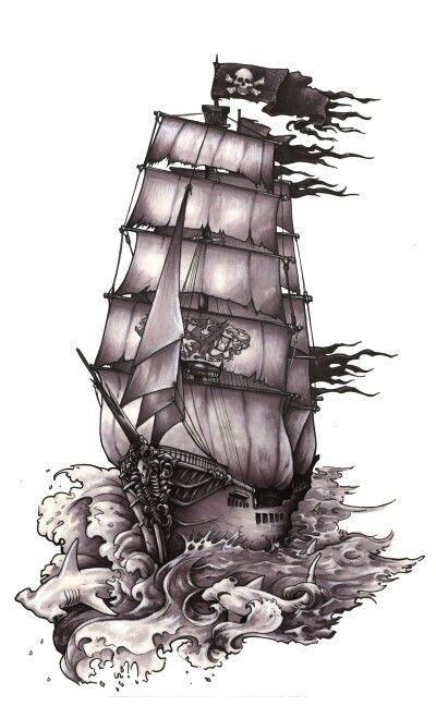 Epingle Par Luiz Carlos Garcia Sur Tattoo Pirates Dessin Bateau Pirate Dessin Tatouage Bateau