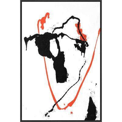 PTM Images Ink Blot I Framed Painting Print on Canvas