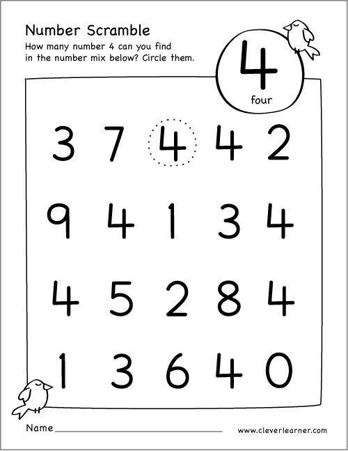 Free Number Scramble Activities For Preschool Kids Numbers