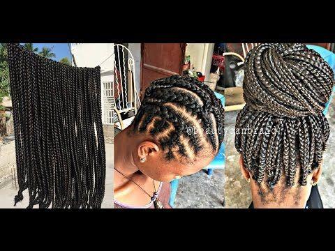 PRE BRAIDED BOX BRAIDS [Video In 40 Hair Hair More Hair Amazing Braid Pattern For Crochet Box Braids