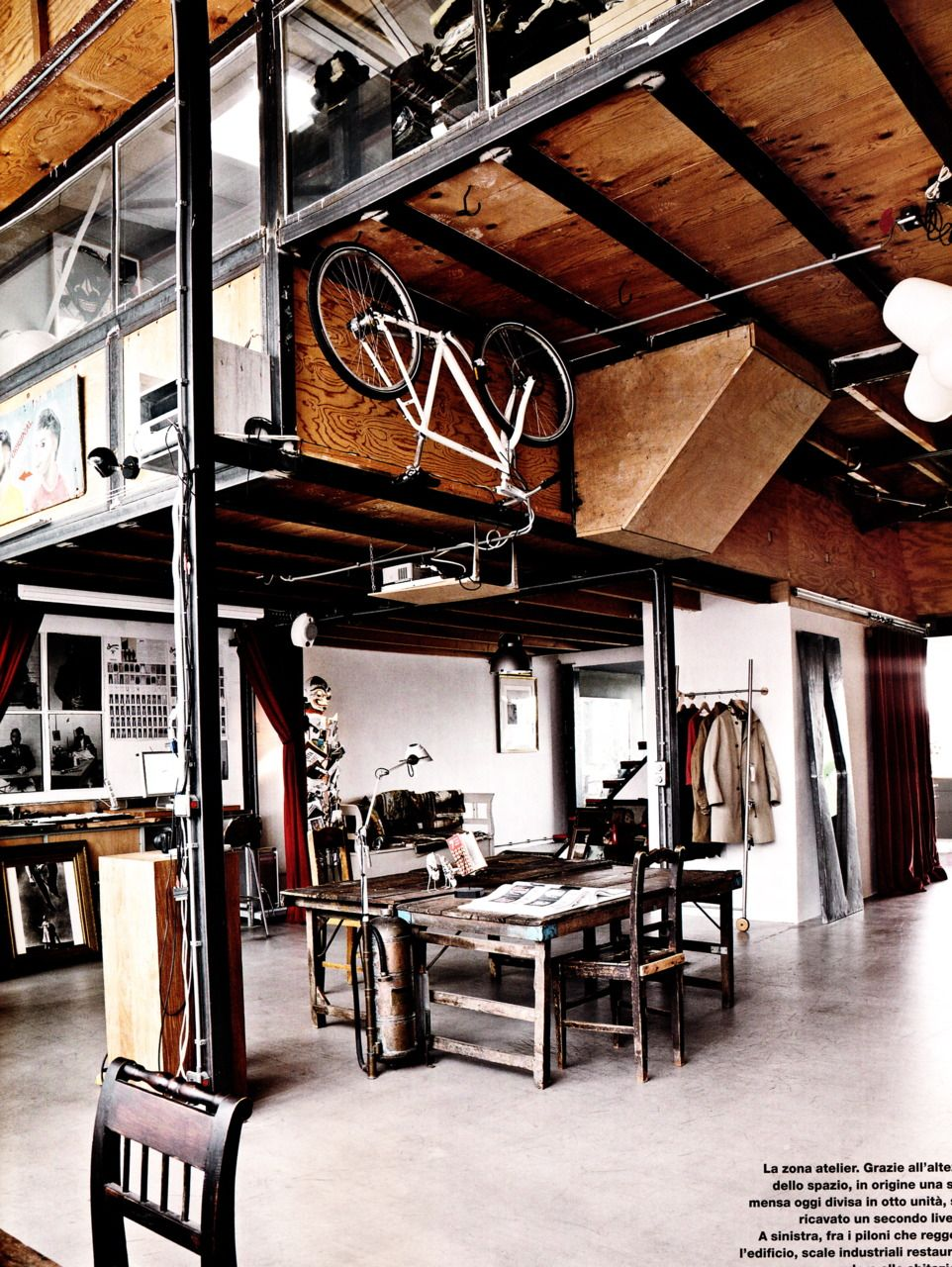 Spazio Italiano San Francisco industrial | ロフト設計, 自宅で, インテリアアーキテクチャ