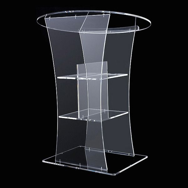 Pulpit Furniture Free Shipping High Quality Price Reasonable Clean Acrylic  Podium Pulpit Lectern Acrylic Pulpit