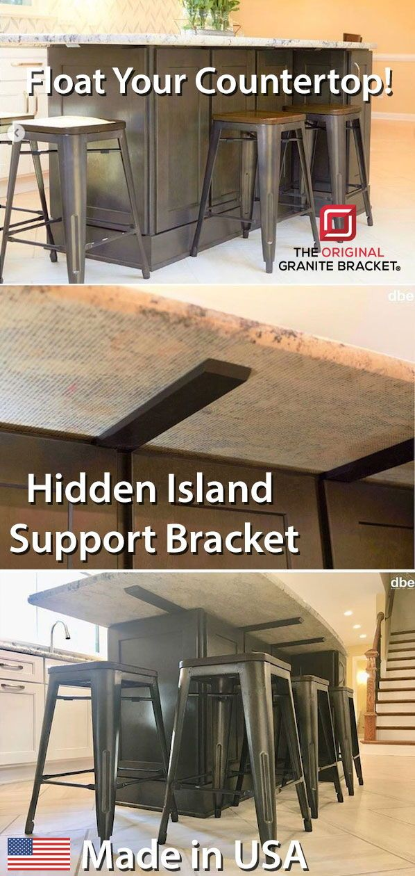 Hidden Island Support Bracket Island Countertops Countertops Lavatory Design