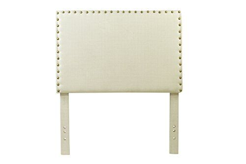 Furniture Of America Petunia Flax Fabric Headboard With