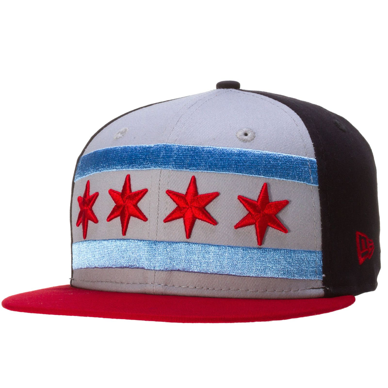 fa04b23cc6a2a5 Chicago Flag Oversized Snapback by New Era #Chicago #ChicagoFlag ...