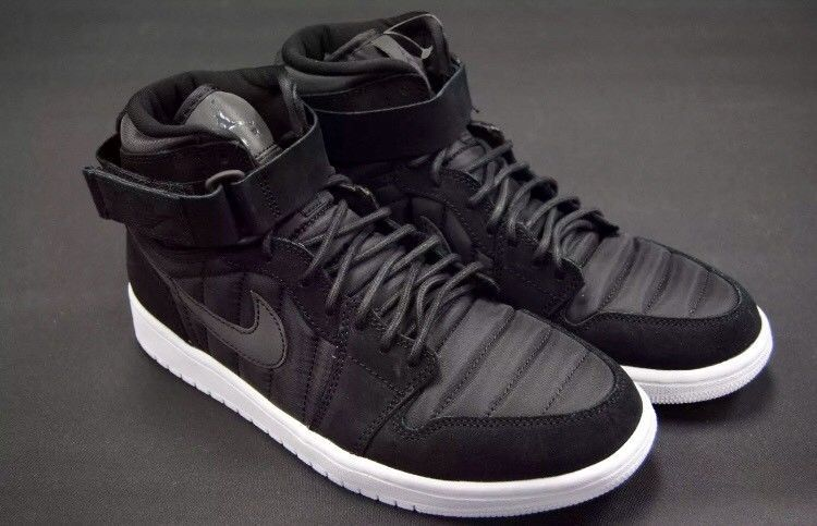 e6514d699380 Nike Air Jordan 1 High Strap Black Black-Pure Platinum Men s SZ 10.5 (Brand  New)