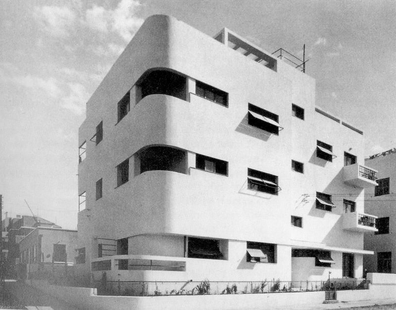 apartment building tel aviv meir rubin benjamin anekstein 1930s source isotype75 archi. Black Bedroom Furniture Sets. Home Design Ideas