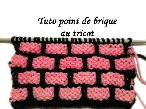Les tutos de fadinou tuto point de brique au tricot tricot pinterest le tricot briques - Les points au tricot ...