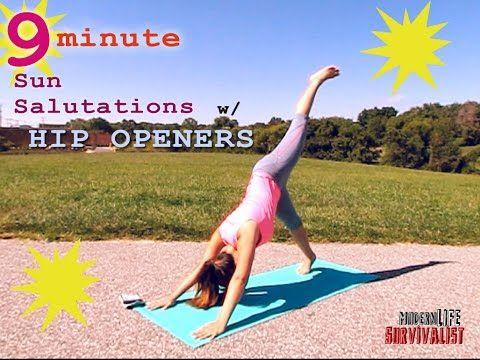 9 min daily yoga body flow balance for a busy morning sun