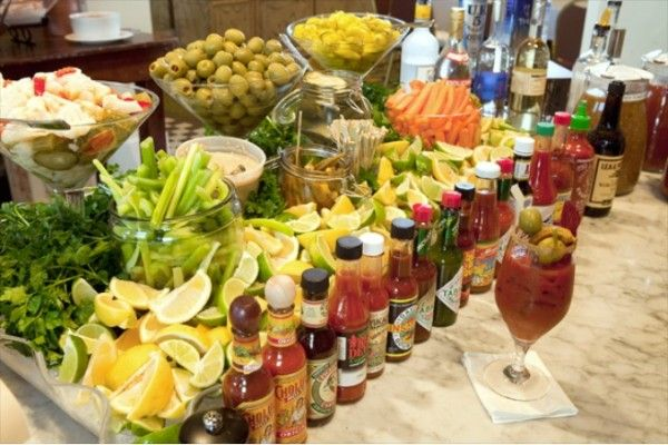 Bloody Marys - Wedding Beverage Stations - brunch idea