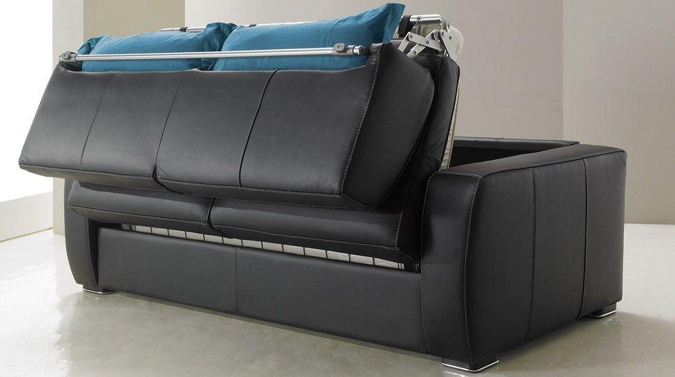 redoutable canapé cuir noir convertible