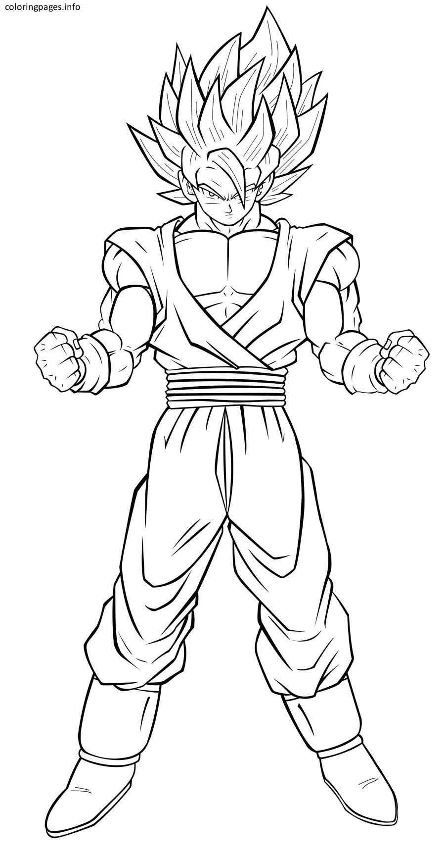 Super Saiyan Goku Coloring Pages Dibujo De Goku Como Dibujar A Goku Spiderman Dibujo Para Colorear