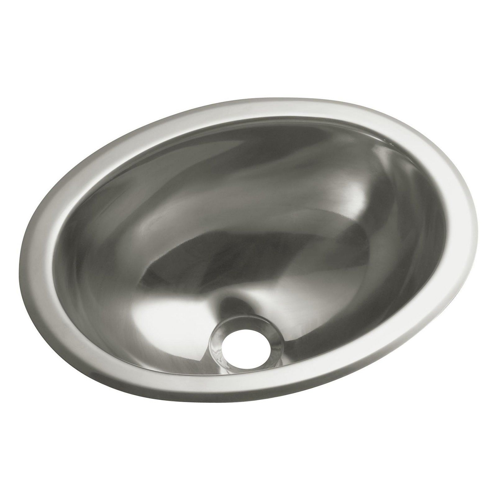 Sterling By Kohler 11811 Round Bathroom Sink Stainless Steel