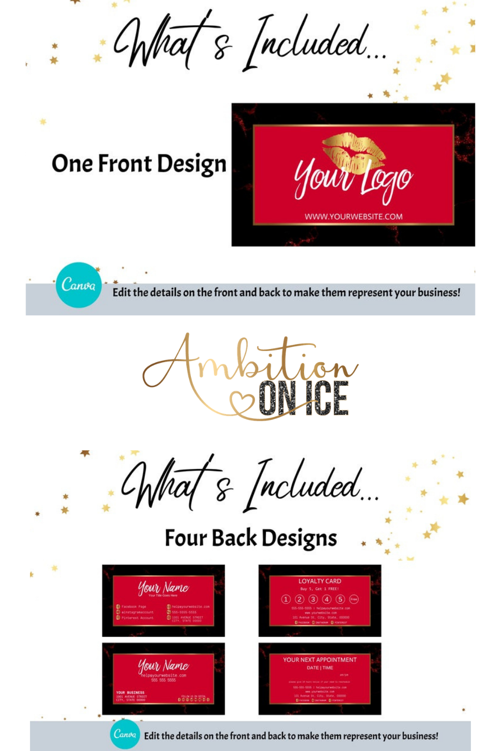 Diy Red Black Marble Business Cards Canva Template Gold Business Card Design Appointment Card And Loyalty Card Instant Download Business Card Design Card Design Appointment Cards