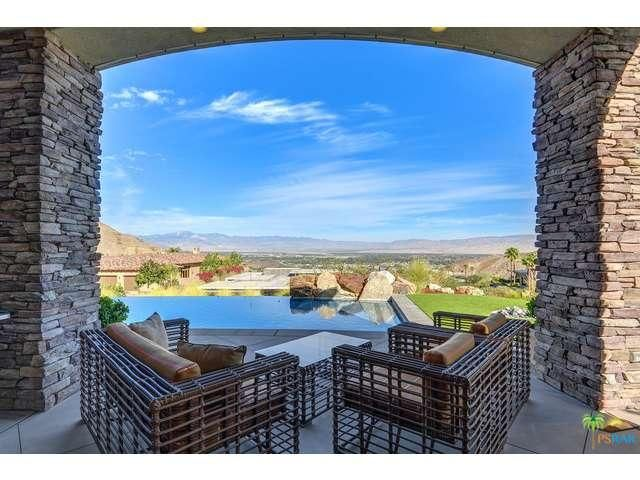 Patio And Pool With Amazing Views. 26 Sierra Vista Dr, Rancho Mirage  Property Listing