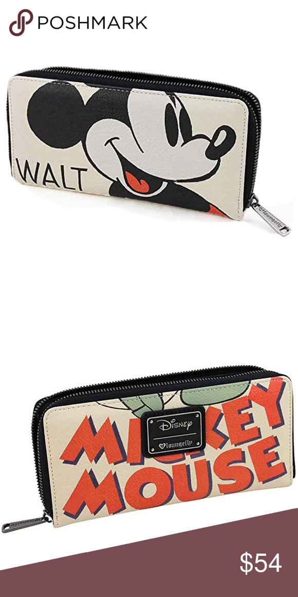 1bd87b2da06 Loungefly Mickey Mouse Classic Wallet Loungefly Mickey Mouse Classic  Zip-Around Wallet  Bring Disney