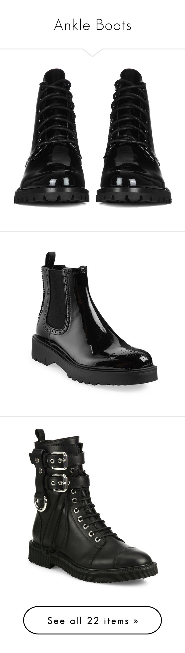 """""""Ankle Boots"""" by yourstylemood ❤ liked on Polyvore featuring shoes, boots, ankle booties, ankle-boots, black, black ankle boots, chelsea boots, black ankle booties, black patent leather booties and ankle boots"""
