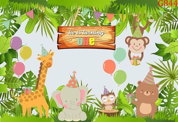 Vinyl Jungle Safari Forest Party Animal Birthday Photography Etsy Studio Backdrops Backgrounds Backdrops Kids Backdrops Backgrounds