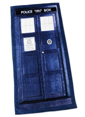 TARDIS beach towel?? Yes please! I think I'll just hang this in front of my door
