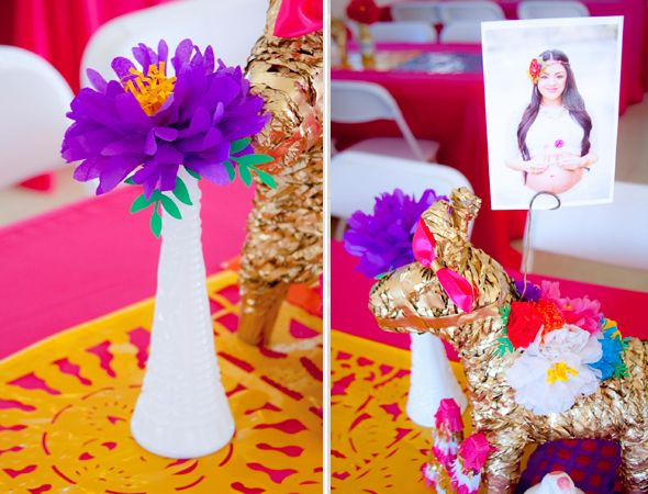 Baby Shower Decorations Los Angeles ~ My sisters colorful mexican inspired baby shower! dessert stand