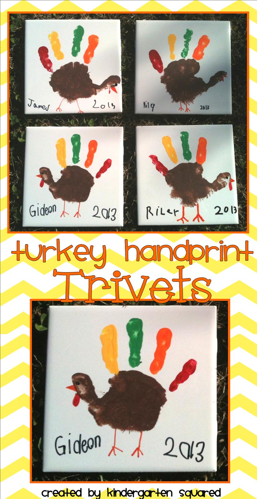 Kindergarten Squared: Turkey Trivets...SO Stinkin' Cute! #thanksgivingcraftsforkids