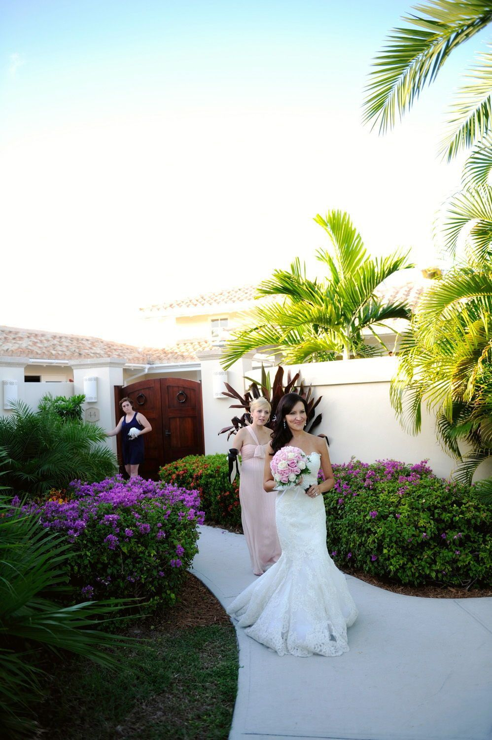 Caribbean wedding dress  Kathi u Joeus absolutely amazing wedding at the beach of Jumby Bay