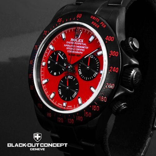 Black Red Theme Watches Mens Watches Black Red Watch