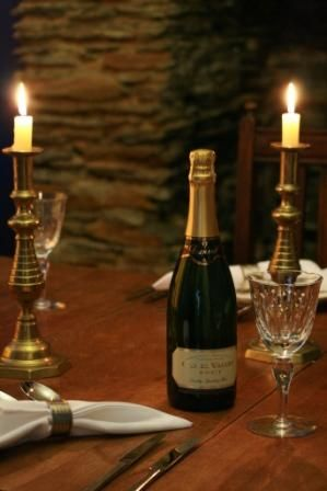Intimate Dining with Camel Valley Brut. Amazing Cornish Fizz