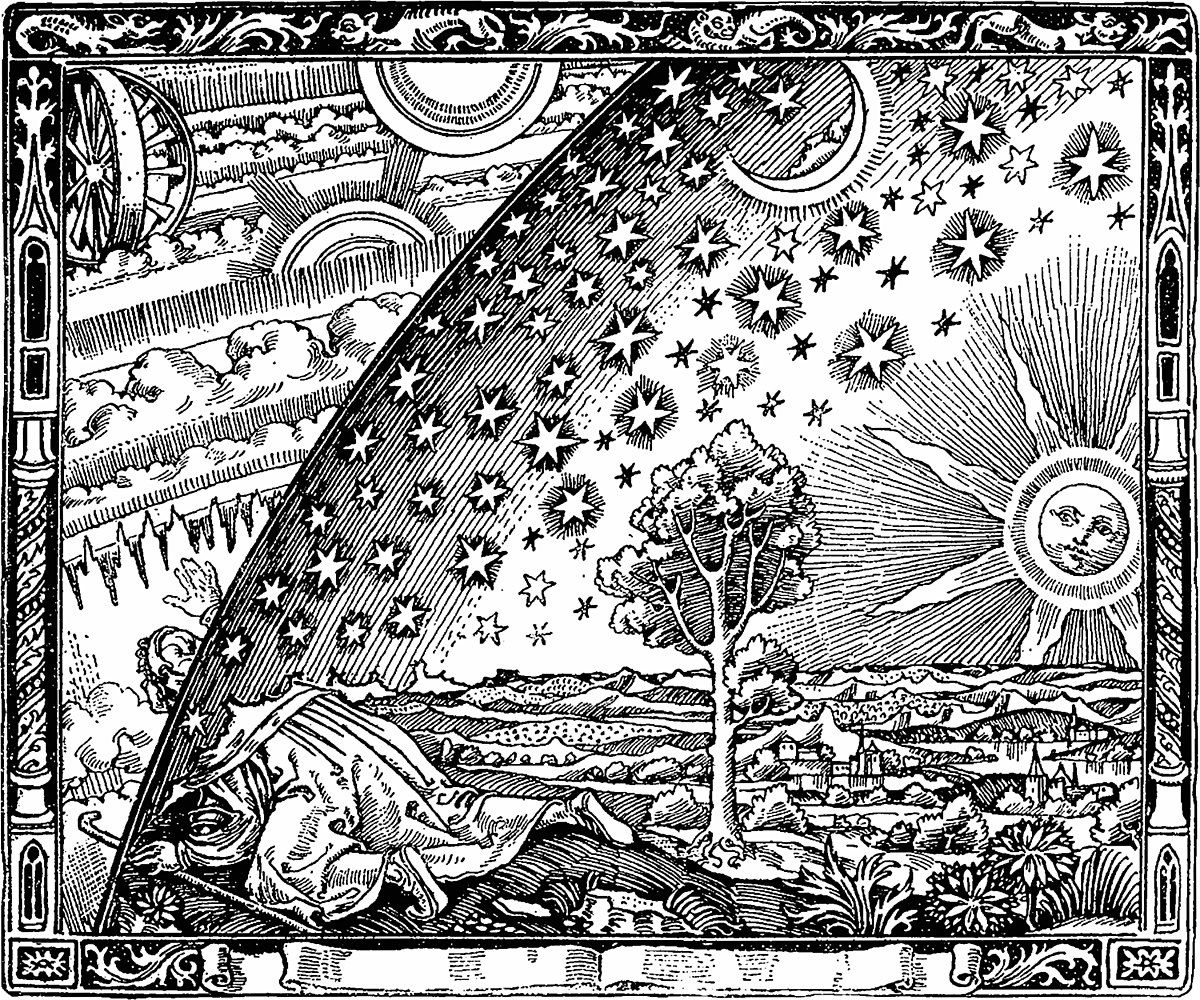 Myth Of The Flat Earth Wikipedia Woodcut Wood Engraving Coloring Pages