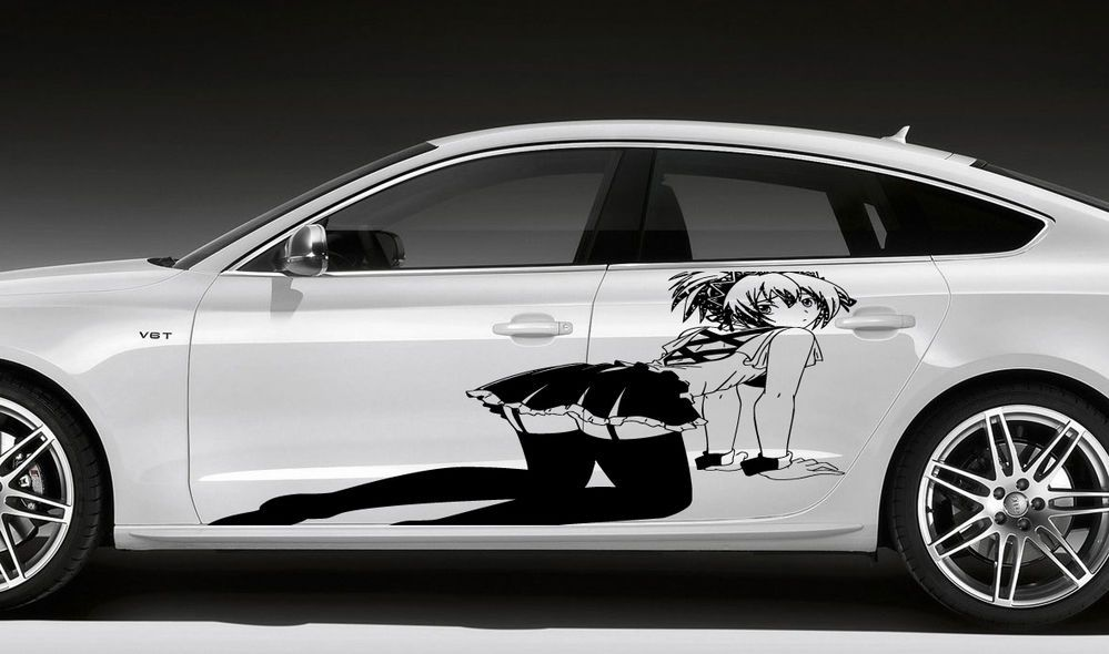 Anime girl sexy manga butt hooters car vinyl sticker graphics d1586