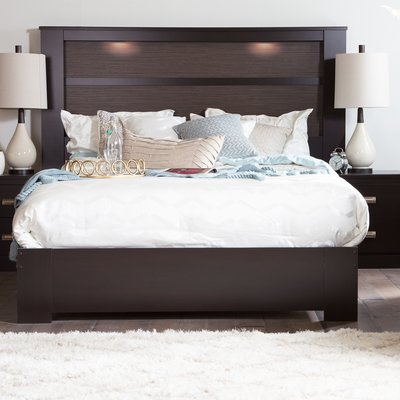 South Shore Gloria Queen Platform Bed In 2020 Headboard With