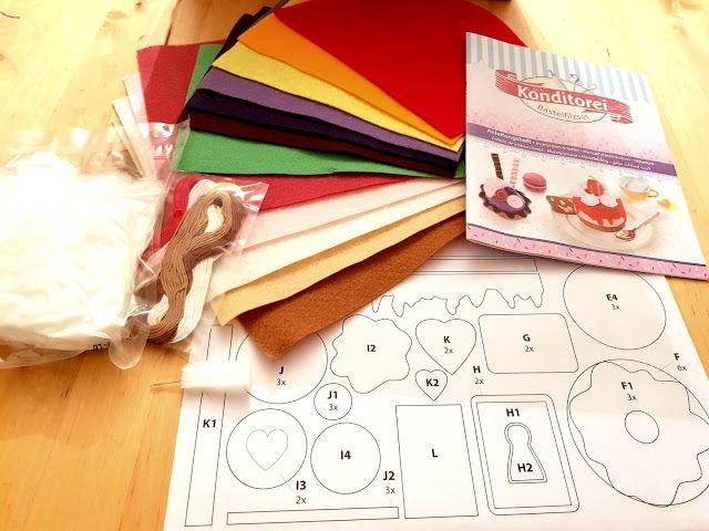 Bastel-Idee für die Adventskalender-Füllung : Kaufladen- und Konditorei-Zubehör aus Filz