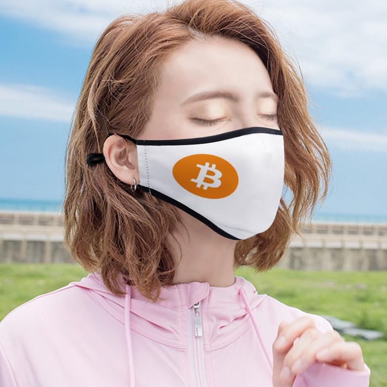 Customizable Crypto Logo Face Masks With TWO PM2.5 Filters