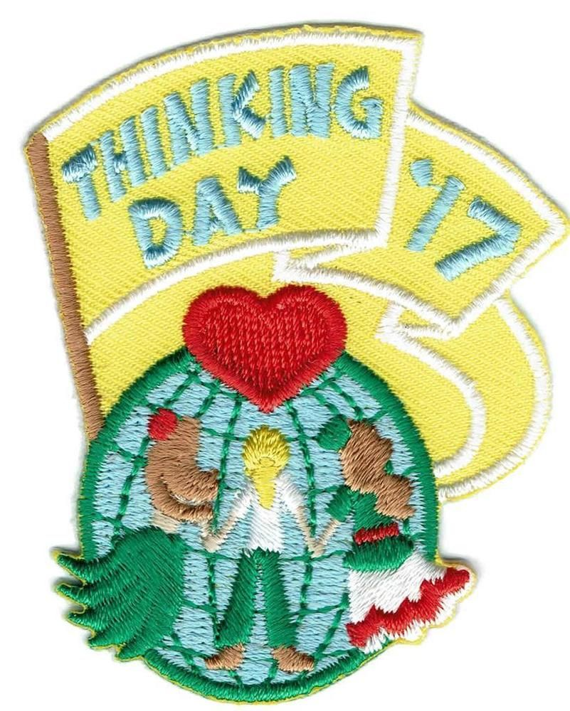 Girl THINKING DAY 2017 Fun Patches Crests Badges SCOUT GUIDE World