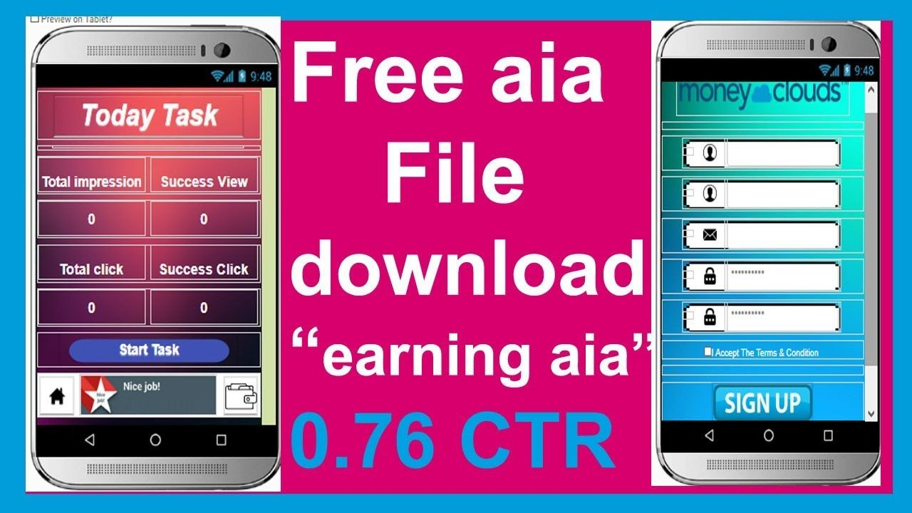 money cloud aia file free download ! earning app aia file