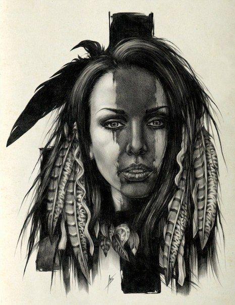 Wall Vk Native American Tattoos Native American Tattoo Native American Art