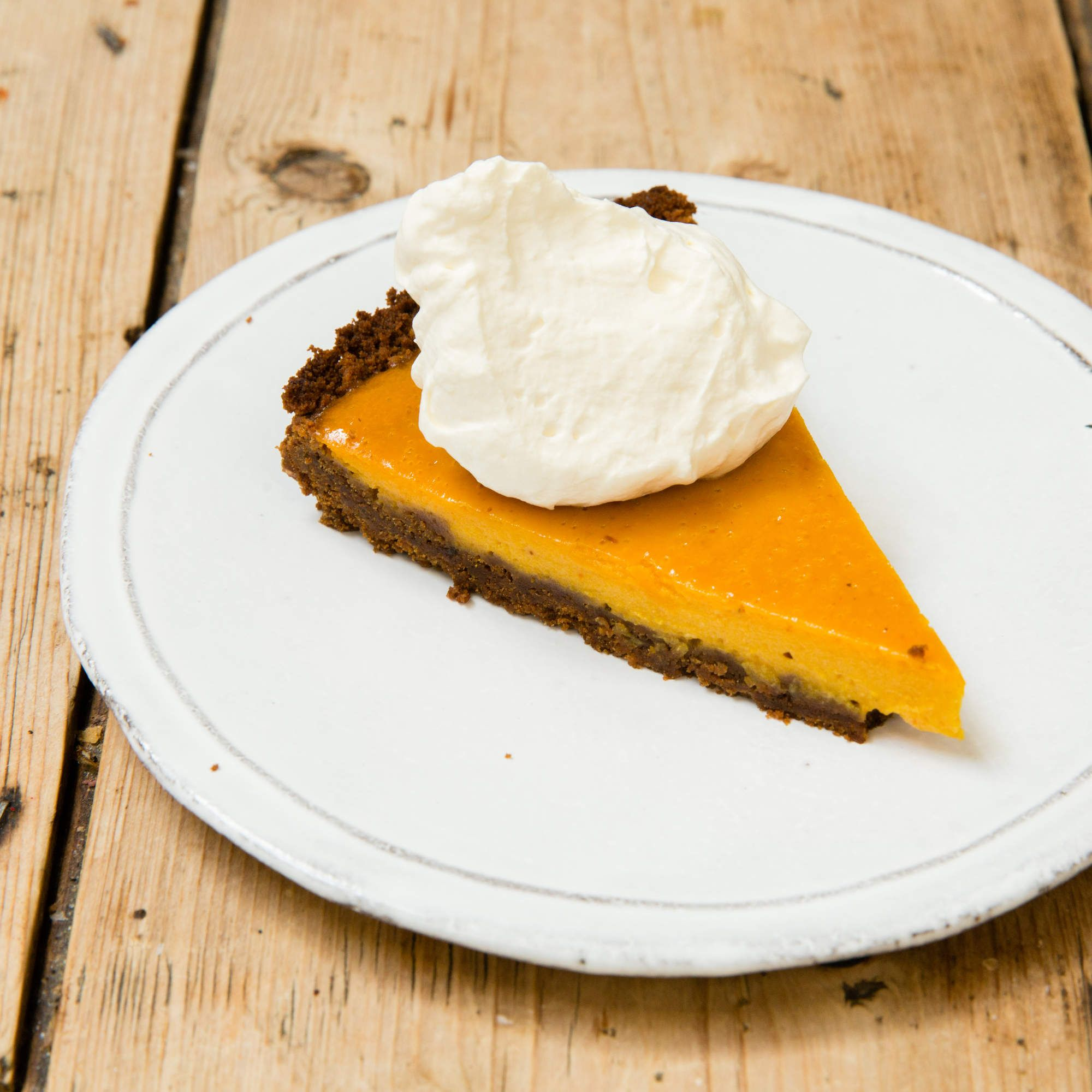 This Pumpkin Tart With Ginger Snap Crust Will Make You Forget About Pie Pumpkin Tarts Ginger Recipes Dessert Ginger Desserts