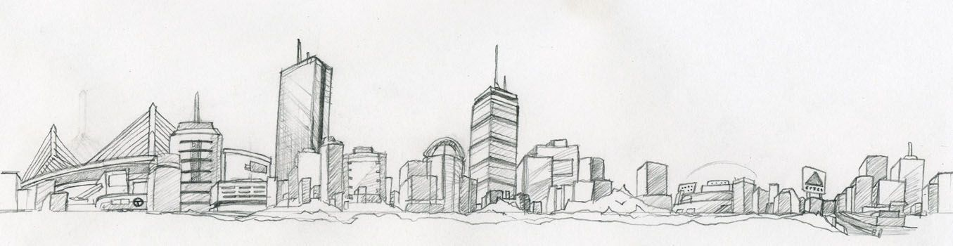 Want This Around My Thigh Boston Skyline Illustration Sketches