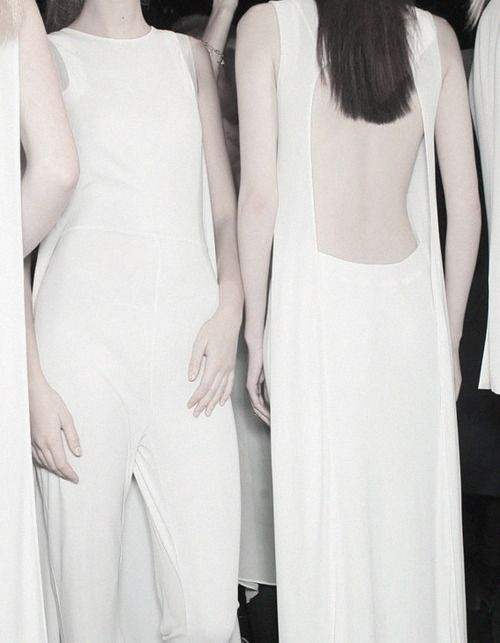 Backstage at Hussein Chalayan S/S 2012