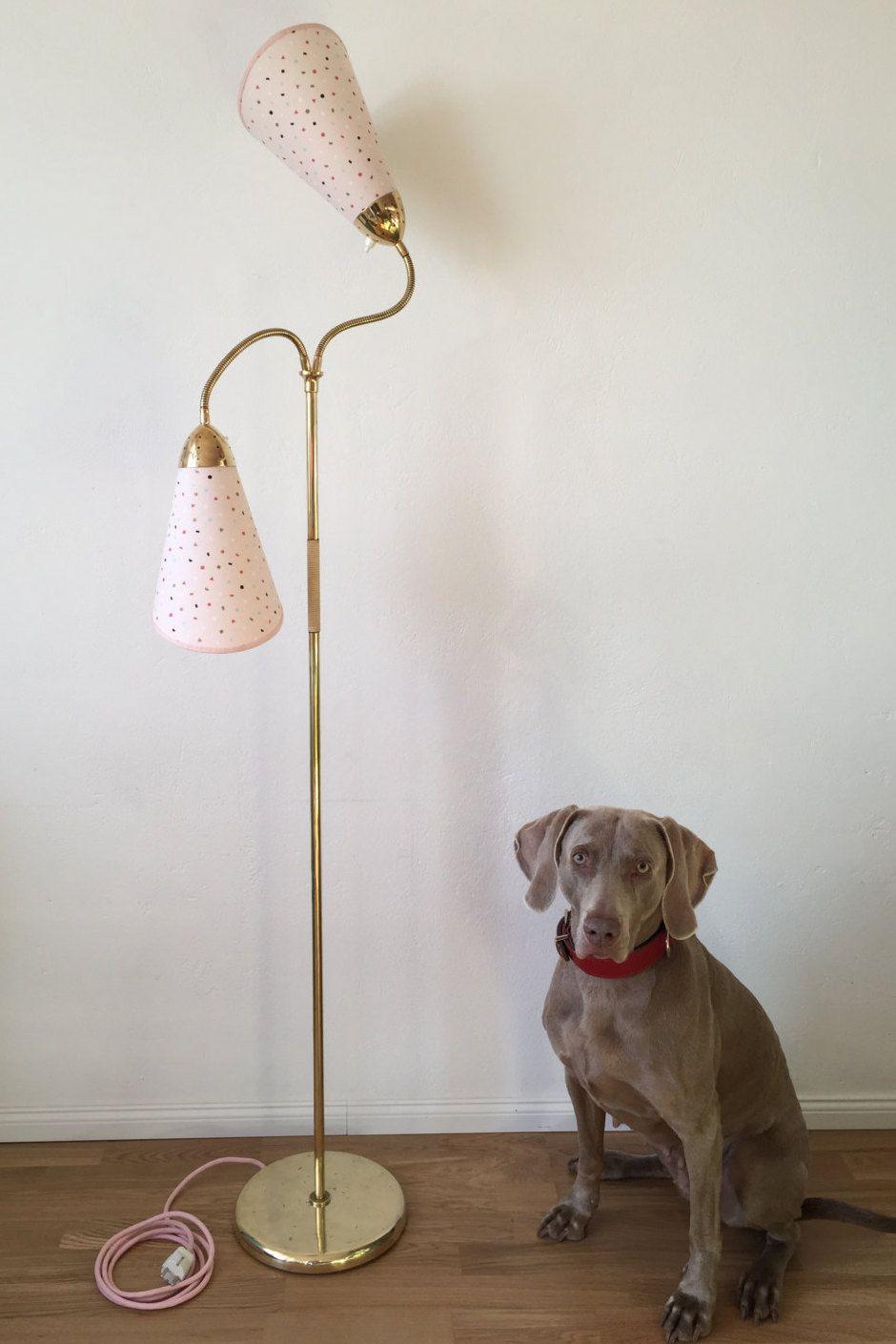 50er Jahre Tutenlampe Stehlampe Rockabilly 50s Messinglampe