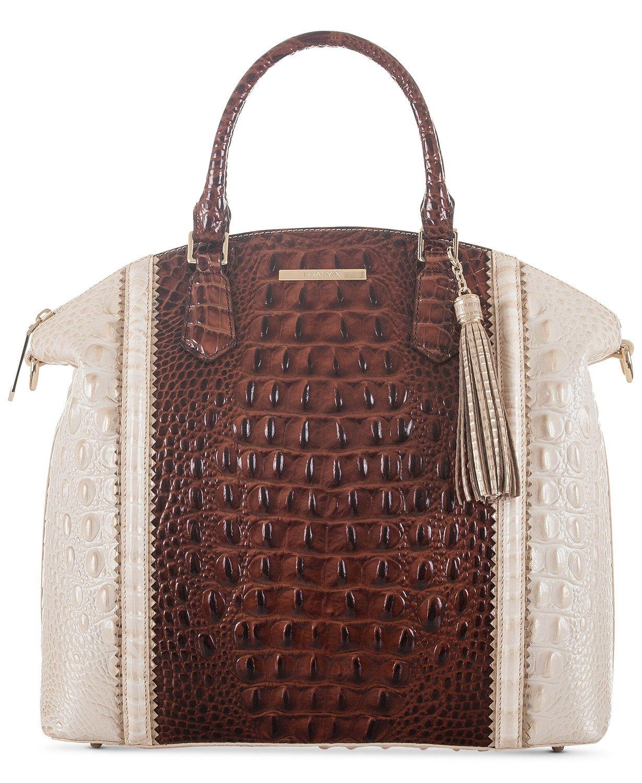 Brahmin Large Duxbury Pecan Soriano Satchel Macys Bags Handbags