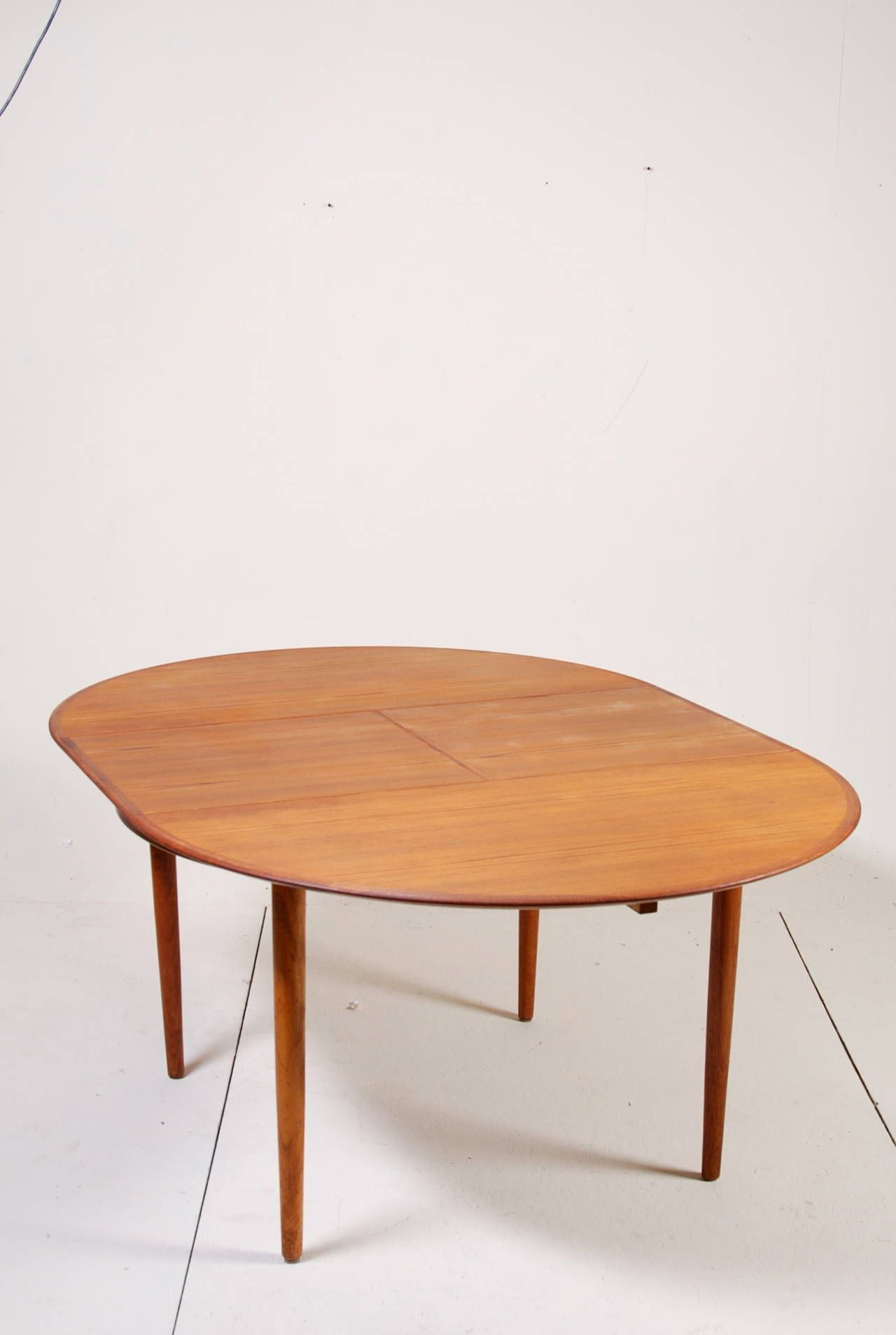 mid century american round coffee table with inset tiles